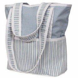Tote Diaper Bag - Blue Sherbert