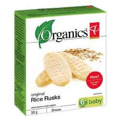 PC Organics Original Rice Rusks