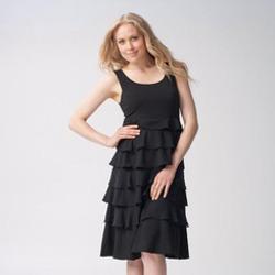 Jolie Chiffon Tiered, Ruffled Dress