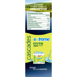 Cascades Enviro® Extreme® paper towel made from 100% recycled fibre