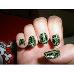 O.P.I. Black Shatter nail polish