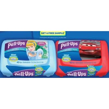 Huggies Pull-Ups flushable moist wipes