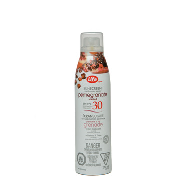 Life Brand Sunscreen Continuous Spray SPF 30 in Pomegranate