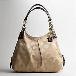 COACH Mia Op Art Sateen Large Maggie Handbag