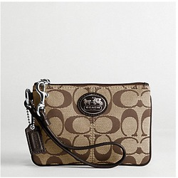 COACH Sutton Signature Wristlet