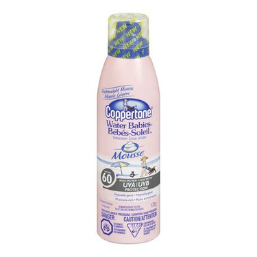 Coppertone Water Babies Sunscreen Mousse SPF 60