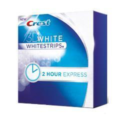 Crest 3D White Whitestrips 2-hour Express