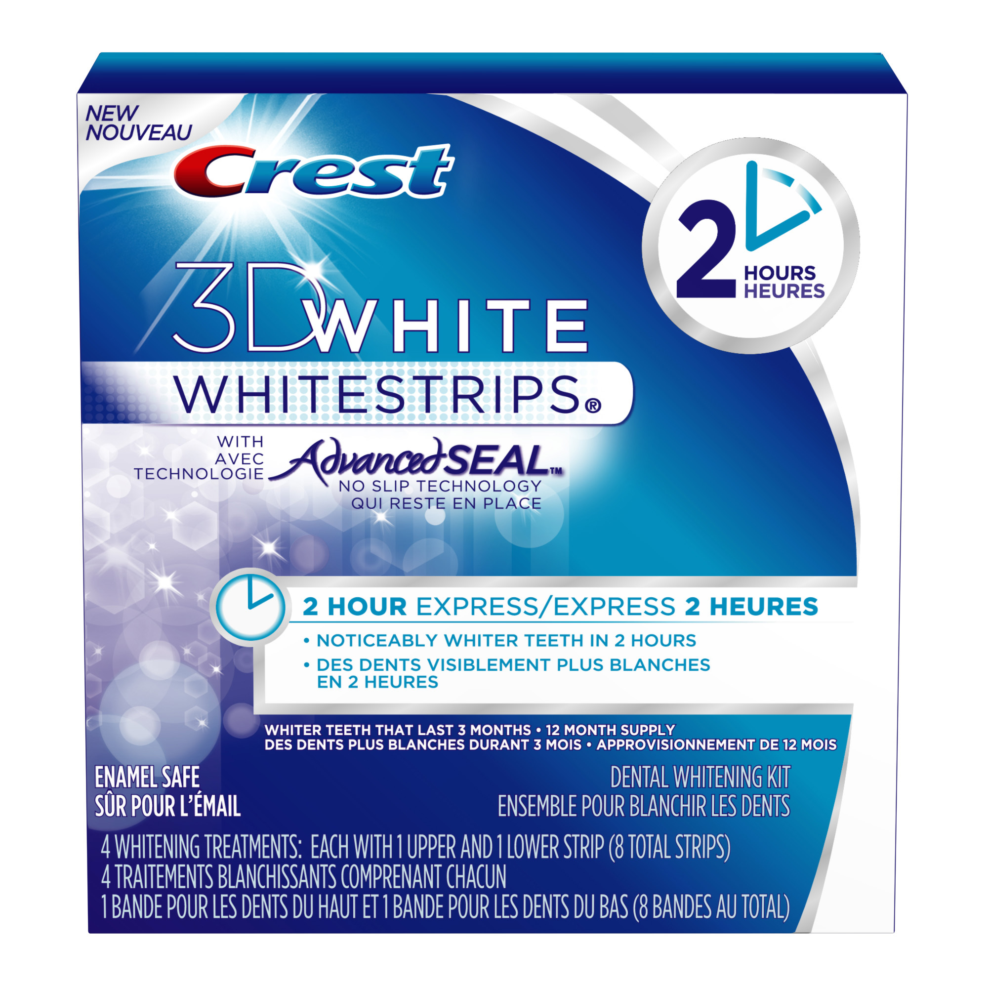 Crest 3D White Whitestrips 2hour Express reviews in Teeth Whitening
