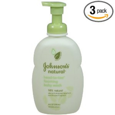 Johnson's Natural Head-To-Toe Foaming Baby Wash
