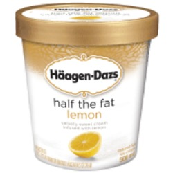 Haagen-Dazs Half The Fat Lemon Ice Cream