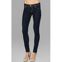 Seven Jeans, THE SKINNY S IN RINSED INDIGOECOND SKIN JEGGING