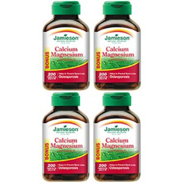 Jamieson™ Calcium Magnesium with Vitamin D 4-pack