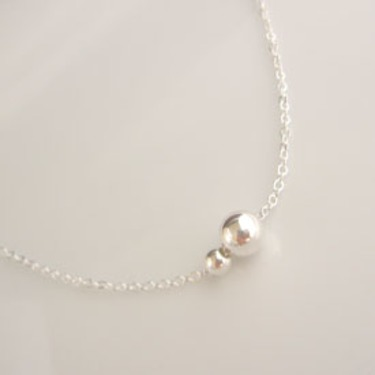 Georgie Designs Sterling Silver Ball Necklace