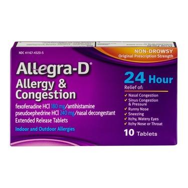 Allegra D Antihistamine and Decongestant