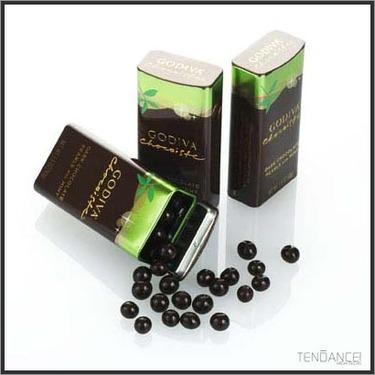 Godiva Chocoiste Dark Chocolate Pearls with Mint