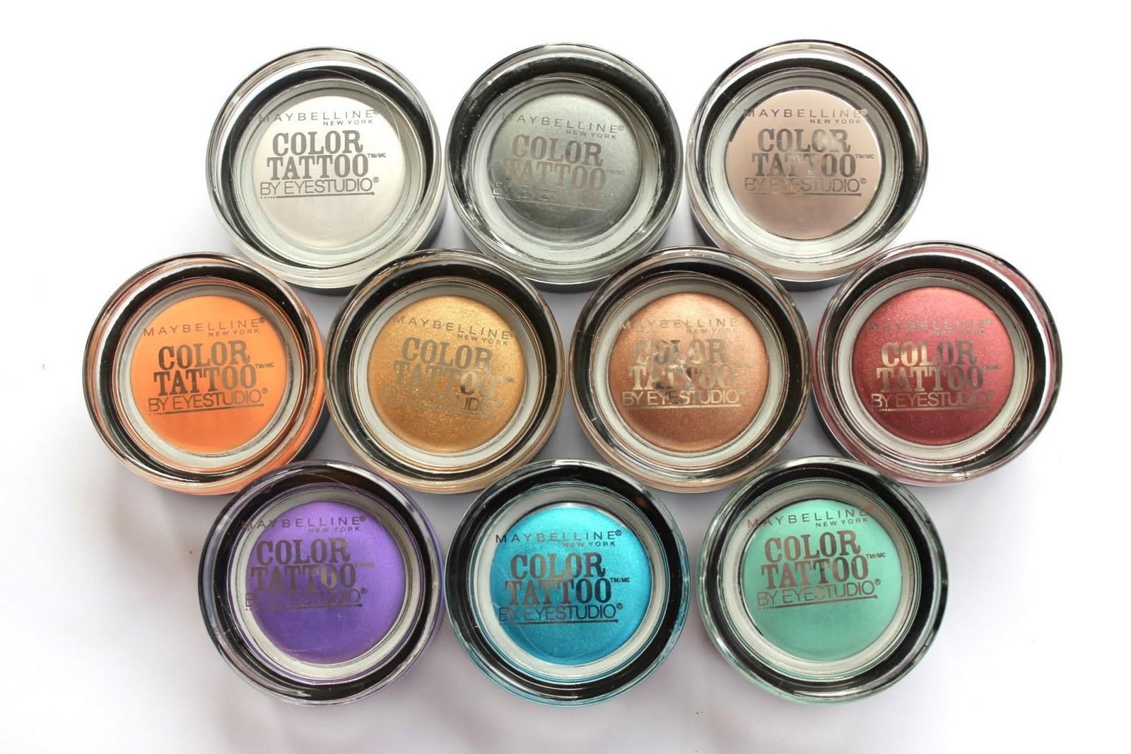 Maybelline Eye Studio Color Tattoo 24hr Cream Gel Eye Shadow Reviews
