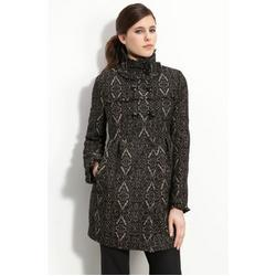 Steve Madden Trim Brocade Coat