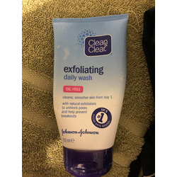 Clean and Clear exfoliating daily wash