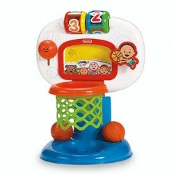 Fisher Price Brilliant Basics Dunk and Cheer Basketball