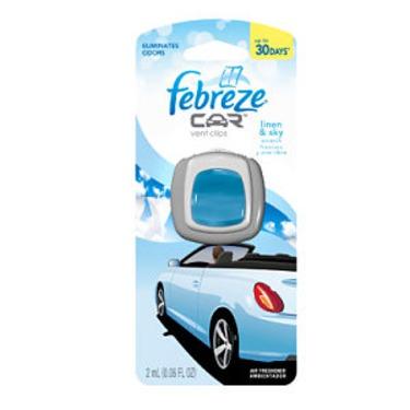 Febreze Car Vent Clips Freshener in Linen & Sky