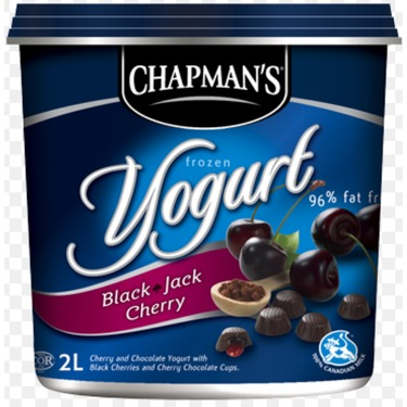 Chapman's Black Jack Cherry Frozen Yogurt