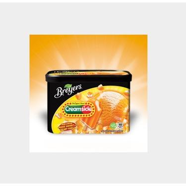 Breyers Creamsicle Orange Sherbet & Creamy Vanilla Ice Cream