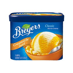Breyer's Creamsicle Orange Sherbet & Creamy Vanilla Ice Cream