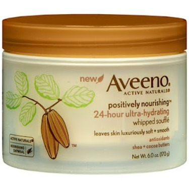 Aveeno Active Naturals Positively Nourishing Whipped Souffle Shea Cocoa Butter