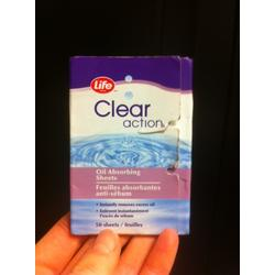 Life Brand Clear Action Oil Absorbing Sheets