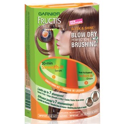 Garnier Fructis Sleek & Shine blow dry perfection brushing