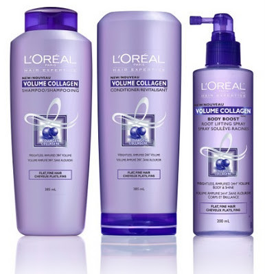 L 39 or al hair expertise volume collagen shampoo for Loreal salon hair products