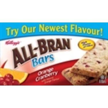 Kellogg's All Bran Cereal Bar/Orange Cranberry