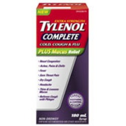 Extra Strenght Tylenol Complete Cold, cough & Flu Plus Mcus Relief