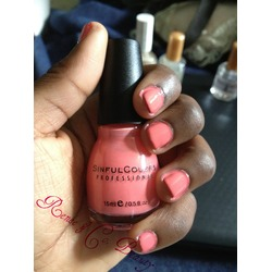 Sinful Colors Nail Polish in Coral