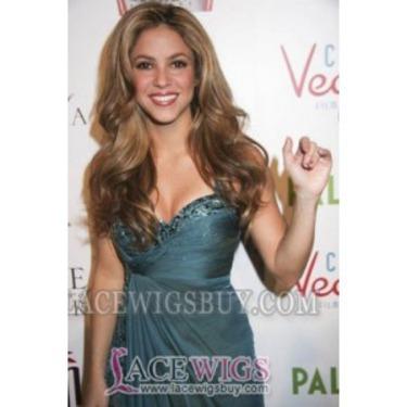 Shakira Prn Long Hairstyle Remy Human Hair Custom Wigs