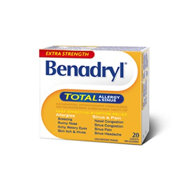 Benadryl Extra Strength Total Allergy & Sinus
