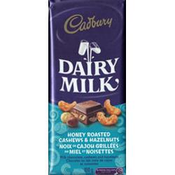 Cadbury Dairy Milk Honey Roasted Cashews & Hazelnuts Chocolate Bar
