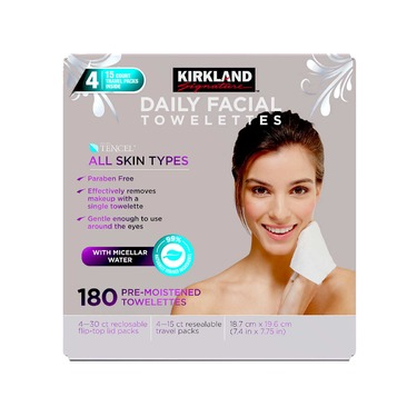 Kirkland Signature Pre-Moistened Daily Facial Cleansing Towelettes