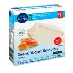 Presidents Choice Greek Yogurt Smoothie Bars/Honey