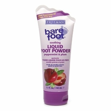 Freeman Peppermint And Plum Bare Foot Soothing Liquid Foot Powder