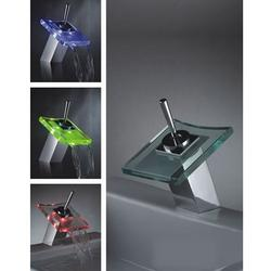 Hot Sale Color Changing LED Waterfall Bathroom Sink Faucet