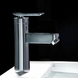 Chrome Finish Single Hole Mount Waterfall Boothroom Sink Faucet
