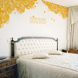 The Best and Most Rose with Butterfly Wall Sticker