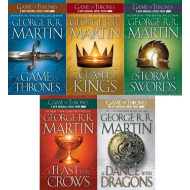 A Song of Ice and Fire by George R. R. Martin.