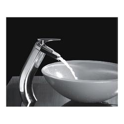 Chrome Finish Waterfall Cold and Hot Bathroom Sink Faucet