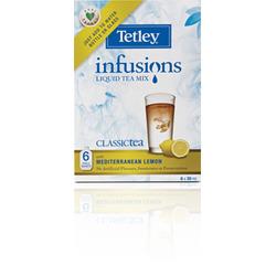 Tetley Infusions Liquid Ice Tea Classic With Mediterranean Lemon