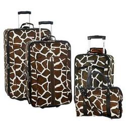 Bentley Giraffe Print Luggage