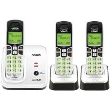 VTech Expandable Three Handset Cordless Phone System