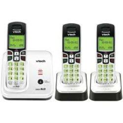 VTech Expandable Three Handset Cordless Phone System