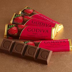 Godiva Milk Chocolate Strawberry Truffle Bar